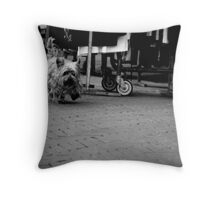 Wandering Yorkie Throw Pillow