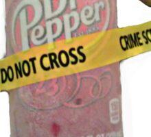 Crime Scene Dr Pepper Sticker