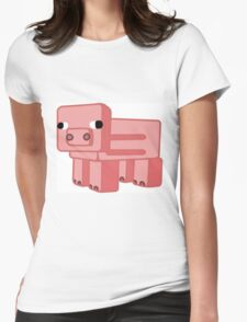 Minecraft Pig Womens Fitted T-Shirt