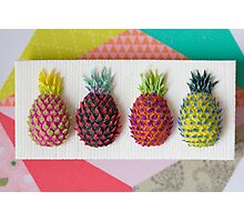 Psychedelic Pineapples Photographic Print