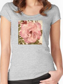 Pink Vintage Rose (s180915pvr) Women's Fitted Scoop T-Shirt