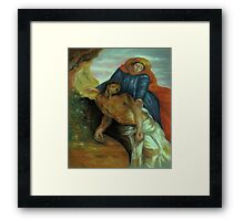 Pieta, after Delacroix Framed Print
