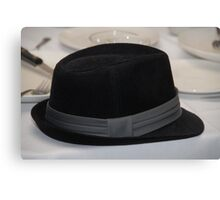 Black Hat Left Behind Canvas Print