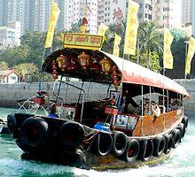 Sampan -  Hong Kong Harbour by sandysartstudio