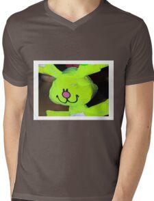 Green bunny Mens V-Neck T-Shirt