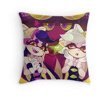 Splatoon - Squid Sisters & Dj Octavio Throw Pillow