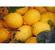 Lemony Basket Photographic Print