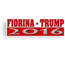 Fiorina Trump 2016 Canvas Print
