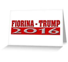 Fiorina Trump 2016 Greeting Card