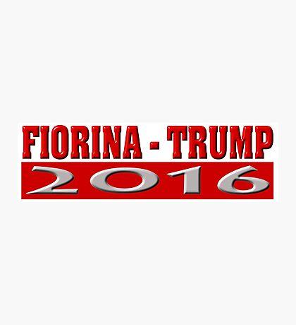 Fiorina Trump 2016 Photographic Print