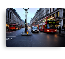 Taxi, bike or bus  Canvas Print