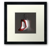 Lips urinal Framed Print