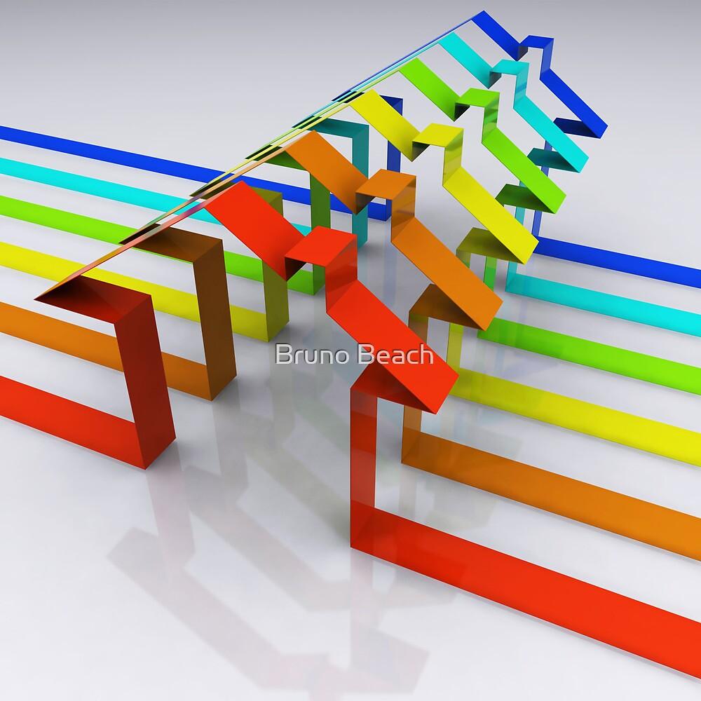 Houses - 3D Render by Digital Editor .