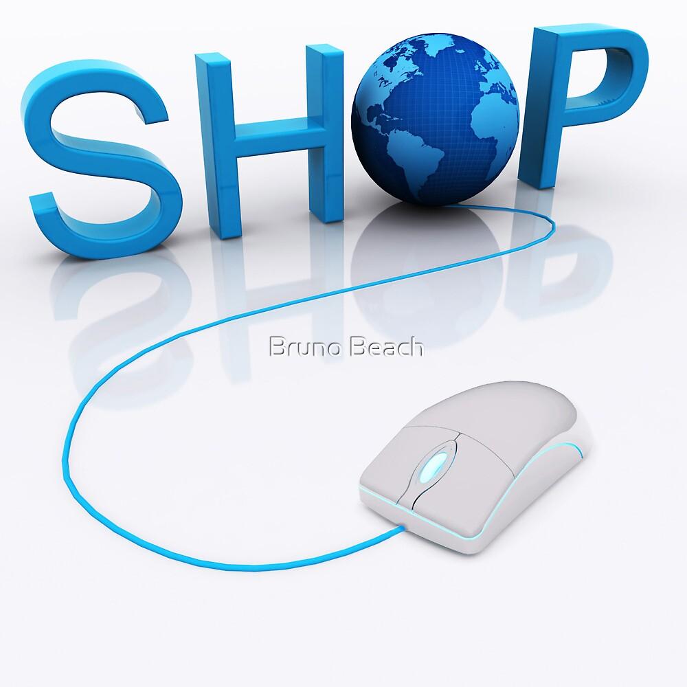 Web Shop - 3D render by Bruno Beach