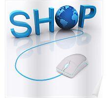 Web Shop - 3D render Poster