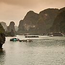 Vietnam: Hazy Morning in the Halong Bay by Kasia-D