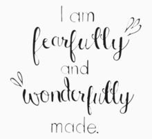 I am Fearfully and Wonderfully Made Baby Tee