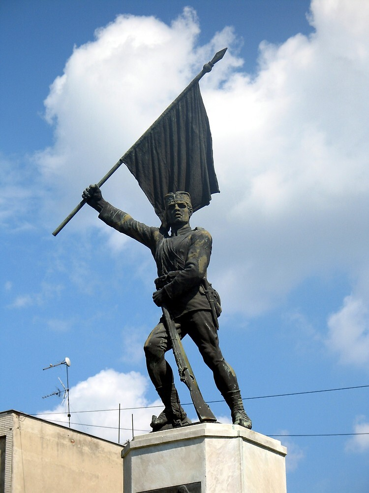 Statue of Serbien Soldier from First World War by branko stanic