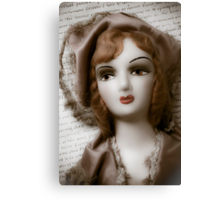 Old Doll On Letter Canvas Print