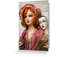 Two Vintage Dolls Greeting Card