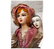 Two Vintage Dolls Poster