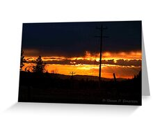 Burning Skies Greeting Card