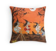 Witches Biggest Loser Throw Pillow