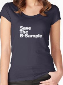 save the b sample Women's Fitted Scoop T-Shirt