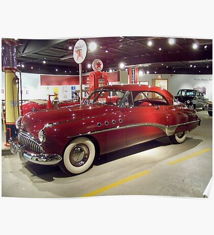 Shiney Red Buick Poster
