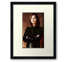Supersonic Woman Framed Print