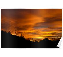 Sunrise Over Tucson Mountains Poster