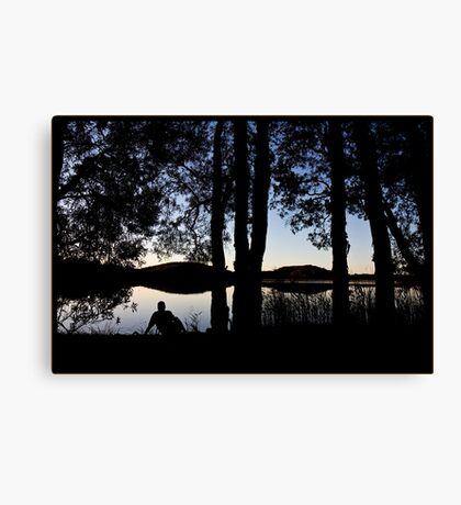 Guess Who - reflecting Canvas Print
