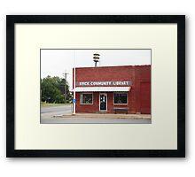 Erick, Oklahoma - Public Library Framed Print