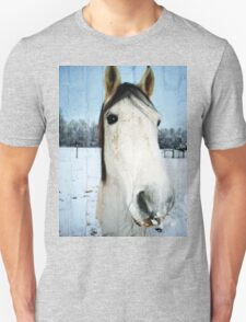 Snow Struck Horse Unisex T-Shirt