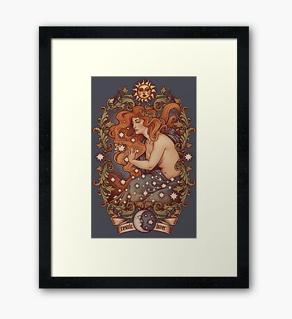 COSMIC LOVER - Color version Framed Print