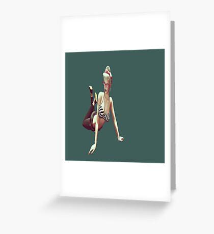Retro pin up girl Greeting Card