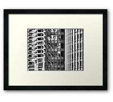 Marina Towers, IBM Building, Trump Tower Framed Print