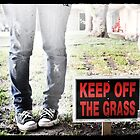 Keep off grass by Amanda Jane Diaz