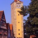 Clocktower, Rothenburg ob der Tauber, Germany. by johnrf