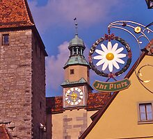 Streetscape, Rothenburg ob der Tauber, Germany. by johnrf