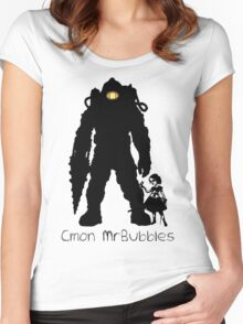 Cmon Mr.bubbles Women's Fitted Scoop T-Shirt