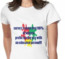 florida sexy survey t-shirt  Womens Fitted T-Shirt