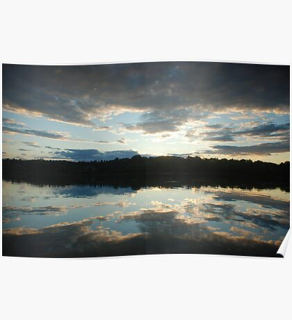 Sunset in South Thomaston Poster