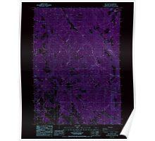 USGS Topo Map Oregon Rio Canyon 281273 1988 24000 Inverted Poster