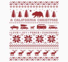 California Christmas Pattern One Piece - Short Sleeve