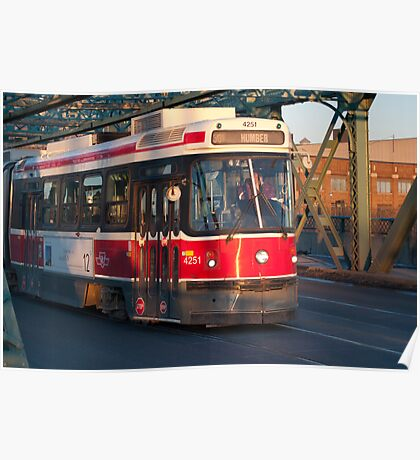 Streetcar 501 On The Queen Street Bridge Poster