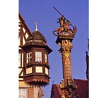 Streetscape, Rothenburg ob der Tauber, Germany. Photographic Print
