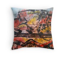 sumo on the open road.... just to lighten things up Throw Pillow