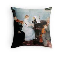 Jules Alexandre Grün Chamber Music Concert Throw Pillow