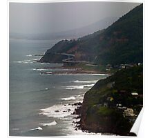 Sea Cliff Bridge from Stanwell Tops Poster